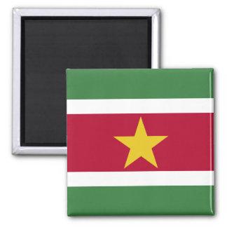 Surinam-Flagge Quadratischer Magnet