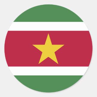 Surinam-Flagge Runder Aufkleber