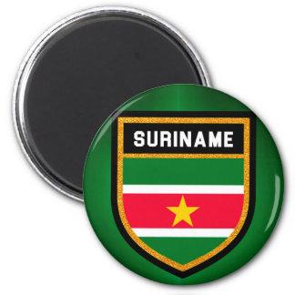 Surinam-Flagge Runder Magnet 5,7 Cm