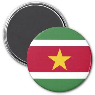 Surinam-Flagge Runder Magnet 7,6 Cm
