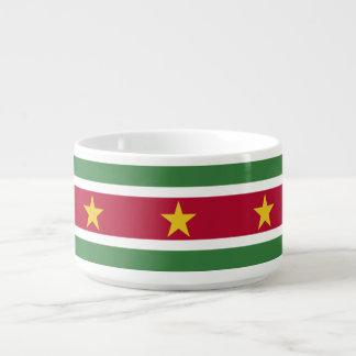 Surinam-Flagge Schüssel