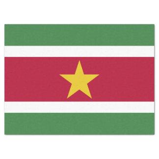 Surinam-Flagge Seidenpapier