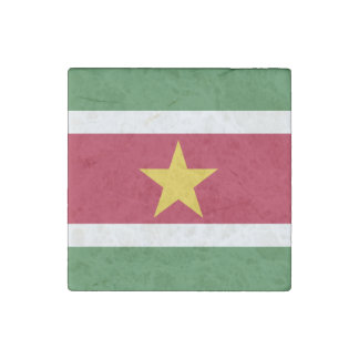 Surinam-Flagge Steinmagnet