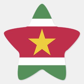Surinam-Flagge Stern-Aufkleber