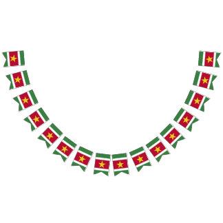 Surinam-Flagge Wimpelketten
