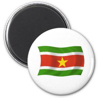Surinam-Flaggen-Magnet Runder Magnet 5,7 Cm