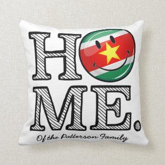 Surinam-Flaggen-smiley-Haus-Wärmer Kissen