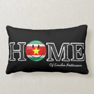 Surinam-Flaggen-smiley-Haus-Wärmer Lendenkissen