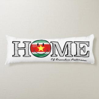 Surinam-Flaggen-smiley-Haus-Wärmer Seitenschläferkissen