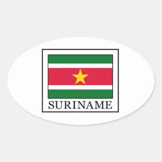 Surinam Ovaler Aufkleber