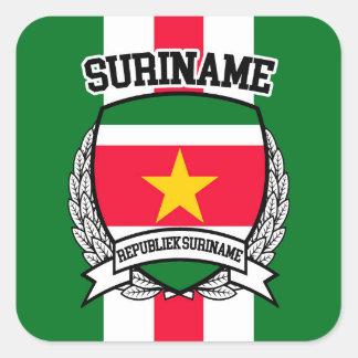 Surinam Quadratischer Aufkleber