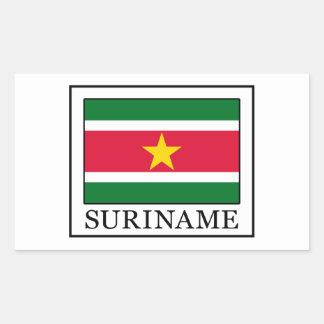 Surinam Rechteckiger Aufkleber