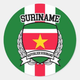 Surinam Runder Aufkleber
