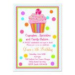 "Surprise  Candy Cupcake Birthday Invitation 5"" X 7"" Invitation Card"