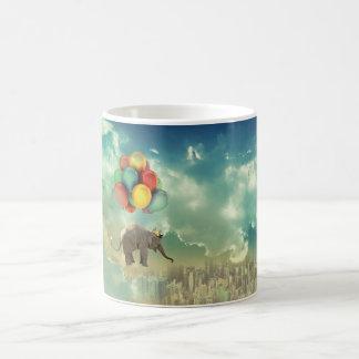 Surreal Ballon-Elefant-Tasse Kaffeetasse
