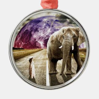 surreal Und MEIN ELEFANT ICH Silbernes Ornament