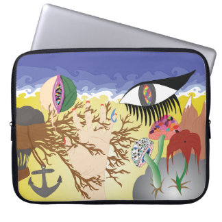 Surreale Insel Laptopschutzhülle
