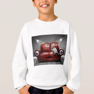 Surreale rote Couch lebendig Sweatshirt