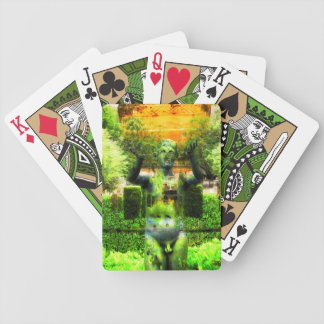 Surrealer Renaissance-Garten Bicycle Spielkarten