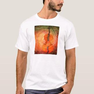 Surreales Cello mit musikalischen Anmerkungen T-Shirt