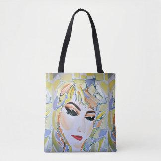 Surreales schwedisches Mädchen - Aquarellmalerei Tasche