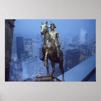 Surrealistische Foto-Collage: Napoleon u. New York Poster