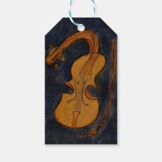 Surrealistische Violine Geschenkanhänger