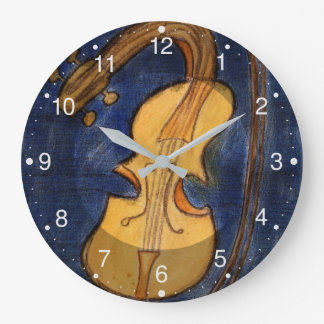 Surrealistische Violine Große Wanduhr