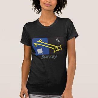 Surrey-Flagge mit Namen T-Shirt