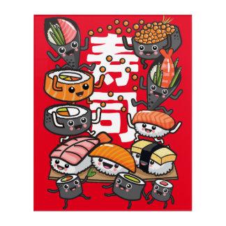 Sushi Acryl Wandkunst