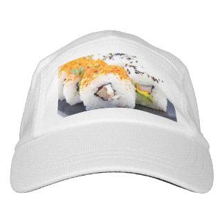 Sushi auf einer Platte Headsweats Kappe