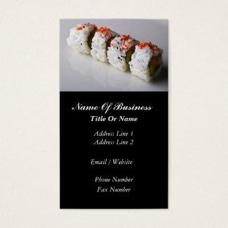Sushi-Bar-Geschäfts-Karte Visitenkarte