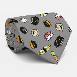 Sushi-Charakter-Muster Krawatte