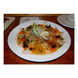 Sushi der weißen Fische Karte