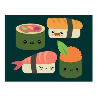 Sushi-Freunde Postkarte