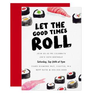 Sushi-Geburtstags-Party 12,7 X 17,8 Cm Einladungskarte