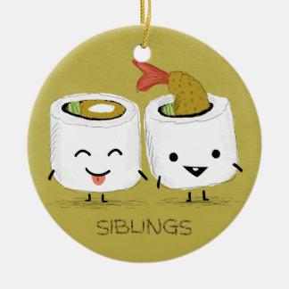 Sushi-Geschwister Keramik Ornament