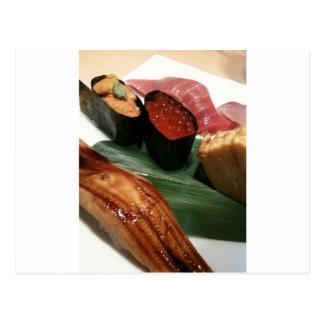 Sushi in Japan Postkarte