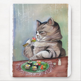 Sushi-Katzen-extravagantes Fest Mousepad