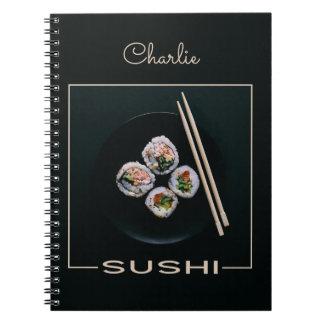 Sushi-Namenotizbuch Spiral Notizblock