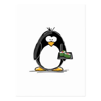 Sushi-Pinguin Postkarte