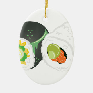 Sushi Rolls Keramik Ornament