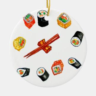 Sushi-Set Watercolor2 Keramik Ornament
