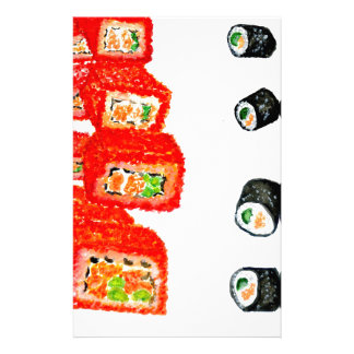 Sushi-Set Watercolor3 Briefpapier