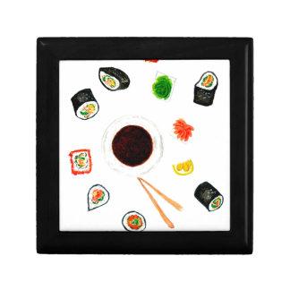 Sushi-SetWatercolor Geschenkbox