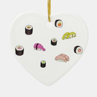 Sushi und Sashimi Keramik Ornament
