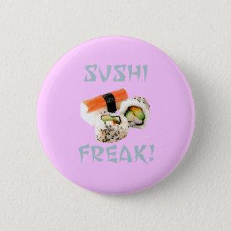 Sushi-ungewöhnlicher Knopf Runder Button 5,7 Cm
