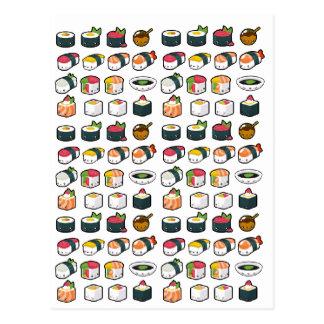 Sushi-Vielzahl-Postkarte Postkarte