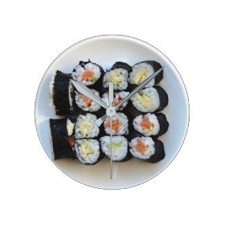 Sushi-Wanduhr Runde Wanduhr