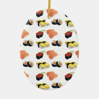 Sushimuster Keramik Ornament